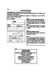 Yamaha EF2800i YG2800i Generator Owners Manual page 3