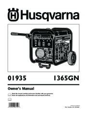 Husqvarna 1365GN Generator Owners Manual page 1