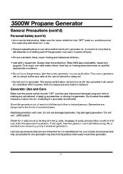 All Power America 3500 APG3535 Generator Owners Manual page 10