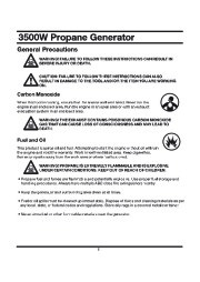 All Power America 3500 APG3535 Generator Owners Manual page 6