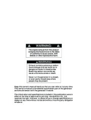 Honda Generator EU2000i Portable Owners Manual page 2