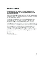 Honda Generator EU2000i Portable Owners Manual page 3