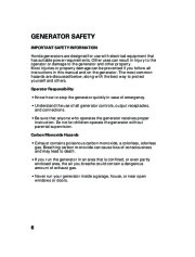 Honda Generator EU2000i Portable Owners Manual page 8
