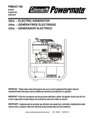 Coleman Powermate PM0421100 Generator Owners Manual page 1