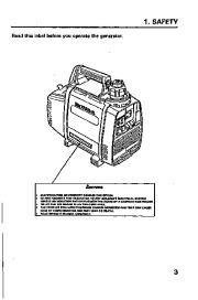 Honda Generator EX350 Owners Manual page 5