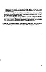 Honda Generator EX350 Owners Manual page 7