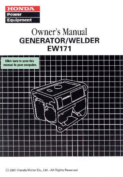 honda generator ew171 owners manual rh home appliance filemanual com honda generator owner's manual eu2000i honda generator eu6500is owner's manual