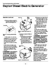 Dayton Diesel Generator 3ZC06B 4W315B Owners Manual page 14