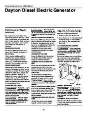 Dayton Diesel Generator 3ZC06B 4W315B Owners Manual page 16