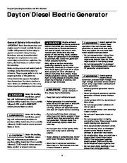 Dayton Diesel Generator 3ZC06B 4W315B Owners Manual page 4