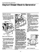 Dayton Diesel Generator 3ZC06B 4W315B Owners Manual page 8