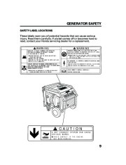 Honda Generator EM5000is EM7000is Owners Manual page 11