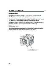 Honda Generator EM5000is EM7000is Owners Manual page 26