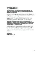 Honda Generator EM5000is EM7000is Owners Manual page 3