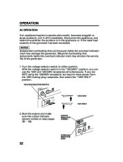 Honda Generator EM5000is EM7000is Owners Manual page 34