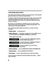 Honda Generator EM5000is EM7000is Owners Manual page 4