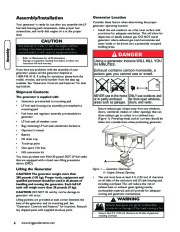 Briggs And Stratton 040248 Generator Owners Manual page 8