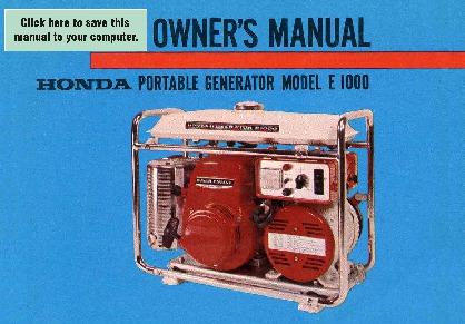 Honda es3500 a generator, jpn, vin# es3500-1000032 to es3500.