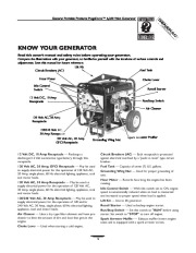 Generac Megeforce 6500 Generator Owners Manual page 5