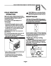 Generac Megeforce 6500 Generator Owners Manual page 9