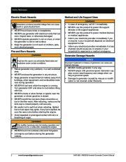 Honeywell HW1000i HW2000i Generator Owners Manual page 8