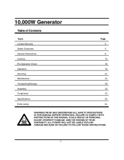 All Power America 10000 APG3090 Generator Owners Manual page 2