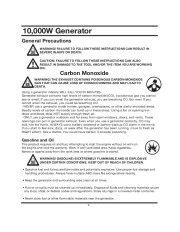 All Power America 10000 APG3090 Generator Owners Manual page 6
