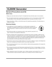 All Power America 10000 APG3090 Generator Owners Manual page 8