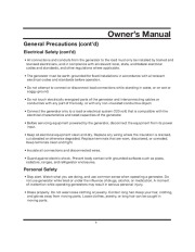 All Power America 10000 APG3090 Generator Owners Manual page 9