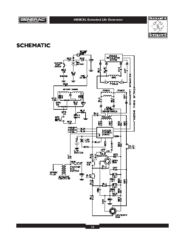 Generac 4000exl Generator Owners Owners Manual English