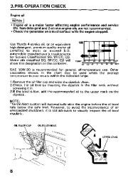 Honda Generator EM3800SX EM5000SX EM6500SX Owners Manual page 10