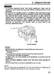 Honda Generator EM3800SX EM5000SX EM6500SX Owners Manual page 19