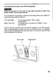 Honda Generator EM3800SX EM5000SX EM6500SX Owners Manual page 23