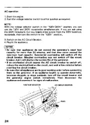 Honda Generator EM3800SX EM5000SX EM6500SX Owners Manual page 26