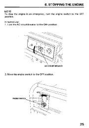 Honda Generator EM3800SX EM5000SX EM6500SX Owners Manual page 27