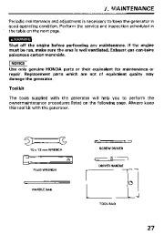 Honda Generator EM3800SX EM5000SX EM6500SX Owners Manual page 29