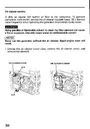 Honda Generator EM3800SX EM5000SX EM6500SX Owners Manual page 32