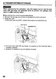 Honda Generator EM3800SX EM5000SX EM6500SX Owners Manual page 38