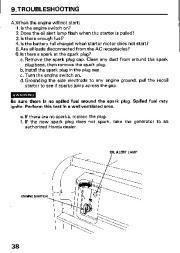 Honda Generator EM3800SX EM5000SX EM6500SX Owners Manual page 40