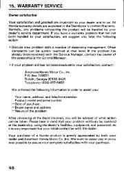 Honda Generator EM3800SX EM5000SX EM6500SX Owners Manual page 48