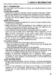 Honda Generator EM3800SX EM5000SX EM6500SX Owners Manual page 5