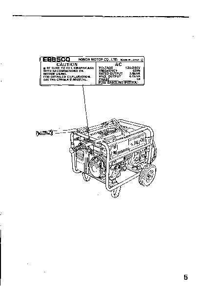 honda generator em3800sx em5000sx em6500sx owners manual rh home appliance filemanual com honda generator em5000sx parts manual EM5000SX Honda Generator Problems