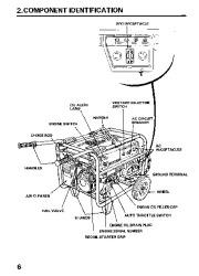 Honda Generator EM3800SX EM5000SX EM6500SX Owners Manual page 8