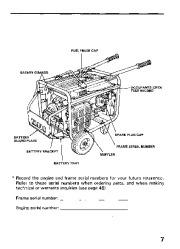 Honda Generator EM3800SX EM5000SX EM6500SX Owners Manual page 9