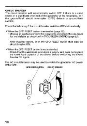 Honda Generator EB11000 Owners Manual page 16