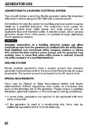 Honda Generator EB11000 Owners Manual page 24