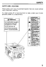 Honda Generator EB11000 Owners Manual page 7