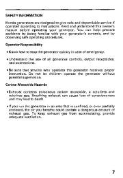 Honda Generator EB11000 Owners Manual page 9