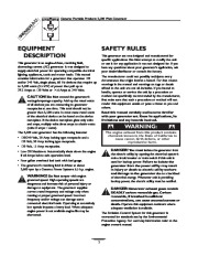 Generac 3500XL Generator Owners Manual page 2