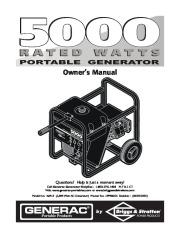 Generac 5000 Generator Owners Manual page 1